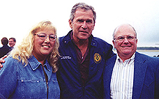 Lorene and Bob Molloy with President George Bush