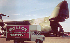 Molloy truck in front of C130 at Manchester Airshow